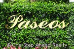 Paseos community sign